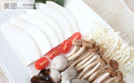 四合饼锅-鲜菇拼盘:大头大头,下雨不愁,人家有伞,我有大头.可爱的蘑菇君